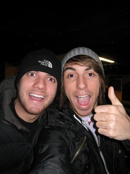 Photo of Alex Gaskarth & his friend musician  Rian Dawson - England