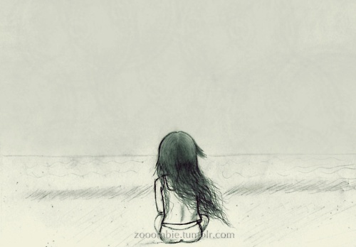 alone, drawing, girl, gsayour, loneliness