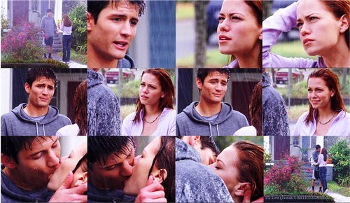 always and forever, boy, couple, girl, kiss, love, naley, one tree hill, oth, rain, smile