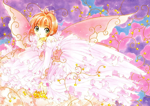anime, colorful, cute, illustration, sakura, sakura card captors