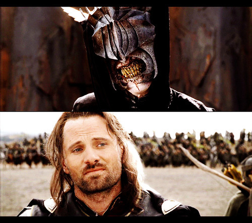 aragorn, lord of the rings, lotr, mouth of sauron, viggo