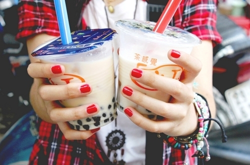 asian, bubble, bubble tea, cute, drink