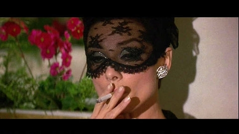 audrey hepburn, cigarette, fashion, film, glamour