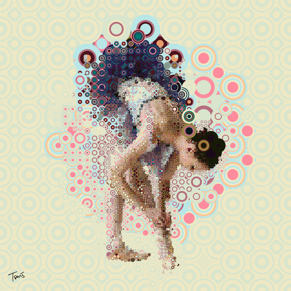 ballerina, black, blue, digital art, graphic design
