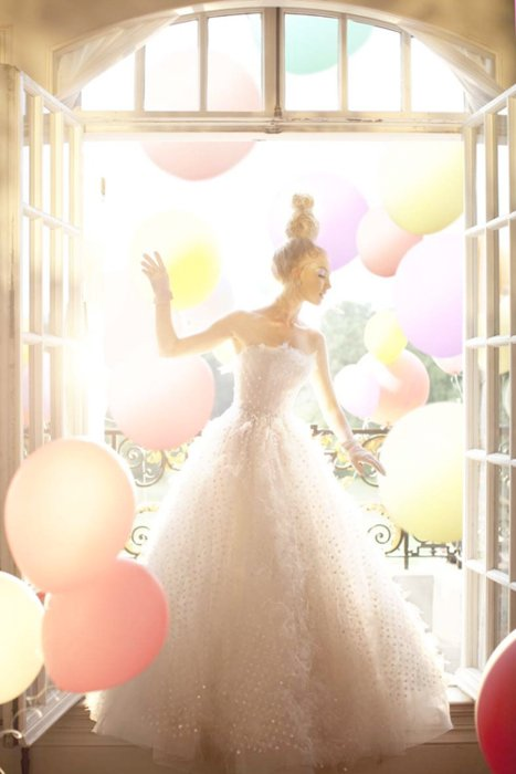 balloons, cute, dress, fashion, girl