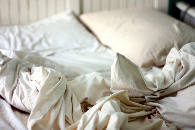 bed, sheets, sleep, white