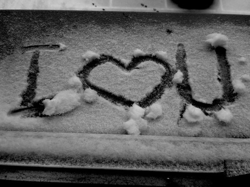 black and white  cool  cute  i heart you  i love you  love  snowAsl I Love You Black And White