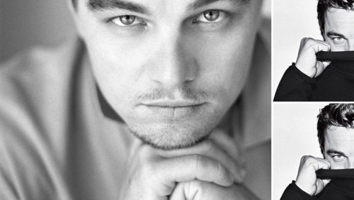 black and white, inception, leonardo dicaprio