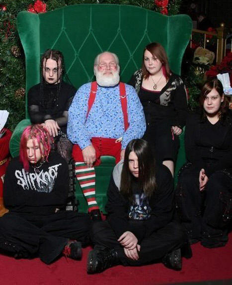 black, boy, emo, fuck, girl, hair, medo, noel, papai noel, sad, santa, santa claus