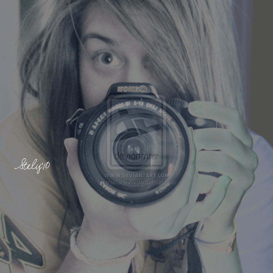 blonde, camera, canon, hair