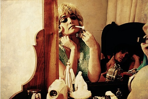 blonde, cigarette, fashion, girl, light, mirror, model, smoke, smoking, woman, zippo