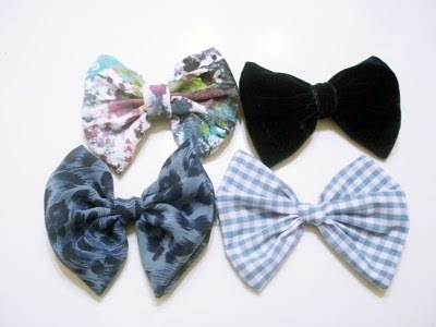 blue bows, blue leopard, blue velvet, bows, etsy, fabric bow, fabric bows, gingham, hair, hairbow, littlewhiteheart, paint splatter, vintage fabric