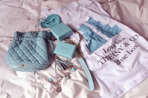 blue, box, cadeau, fashion, present