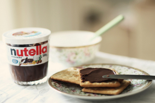 bokeh, food, nutella