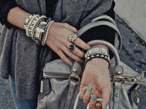 bracelets, fashion, girl, nailpolish, ring, style