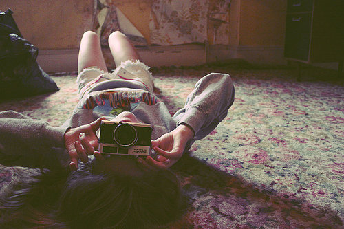 camera, girl, photographer