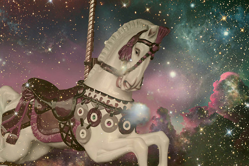 carousel, galaxy, horse, kristinemoen, magic