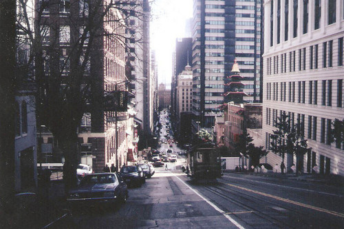 cars, city, houses, new york, road