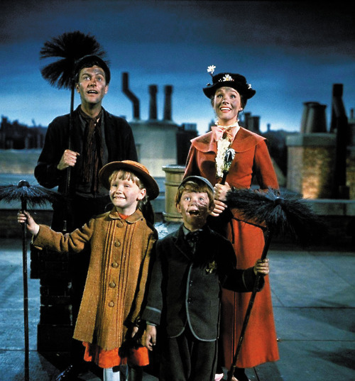 children, chimney, fairy tale, mary poppins, roof