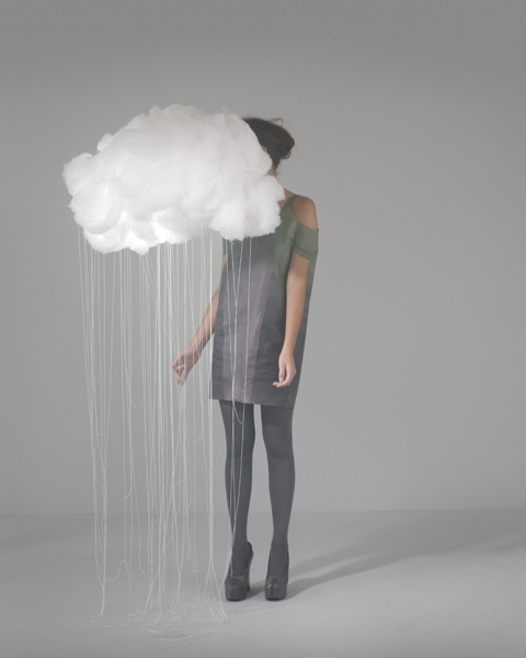 cloud, fashion, model, rain