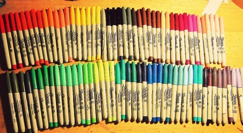 colorful, colors, markers, sharpies