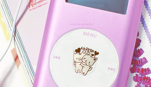 cute, ipod, kawaii, kitty, pink