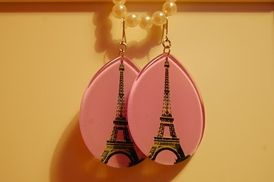 earring, eiffel, fashion, lavender, lilac