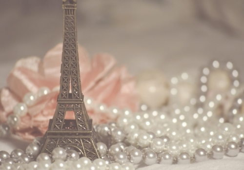 eiffel tower, paris, pearls