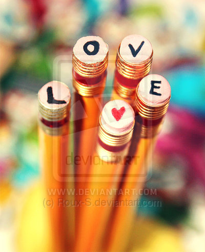 heart, love, pencil