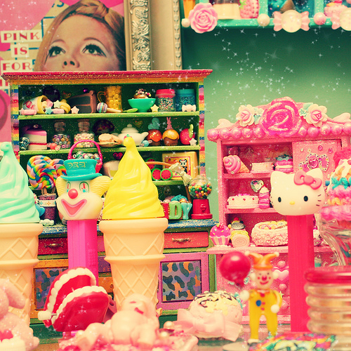 hello kitty, ice cream, kawaii, pink, store