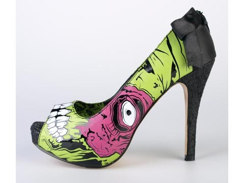 high heels, iron fist, monster
