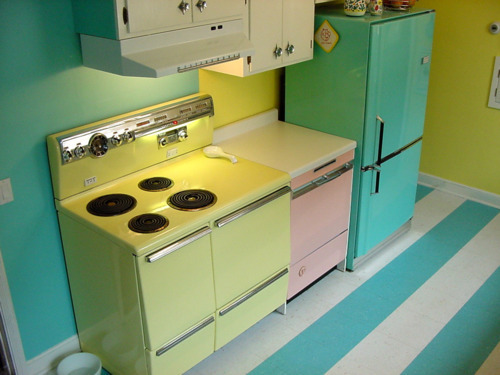 kitchen, retro, vintage