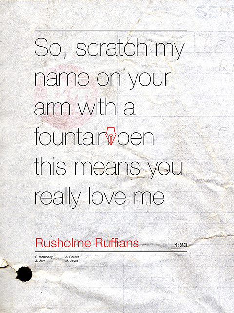 lyrics, morrissey, rusholme ruffians, smiths, text