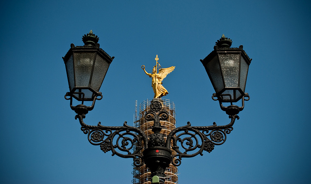 angel, berlin, blue, germany, lamps
