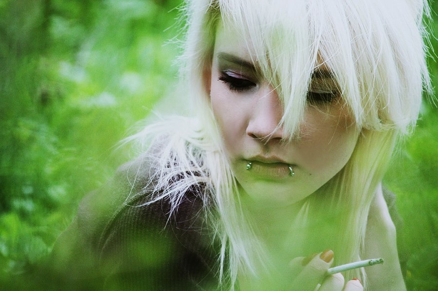 angiua26, blonde, cigaret, girl, photography