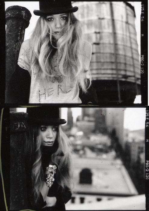 art, ashley, black and white, blonde, cute, fashion, hat, jewelry, mary-kate, old, olsen, photography, studded, typography, vintage