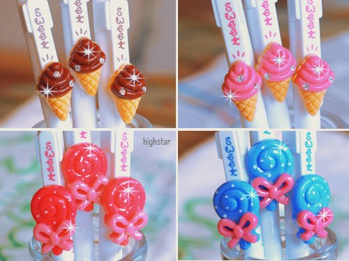 asian, crystal, cute, ice cream, kawaii, lollipop, ribbon, sweet