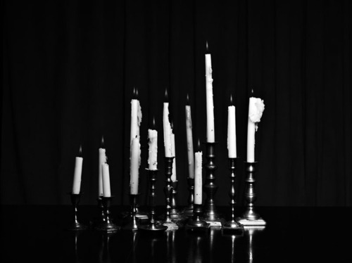 b&w, candles, gsayour, photography
