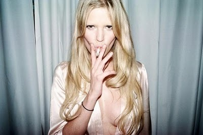 beautiful, blonde, cigarette, hair, lara stone