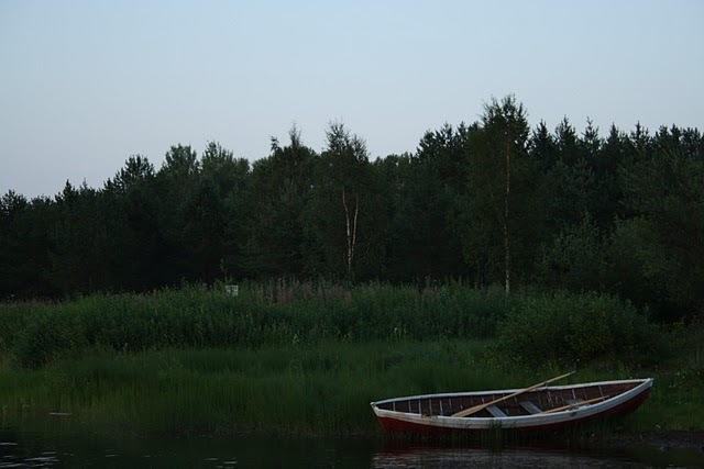 beautiful, boat, finland, night, river