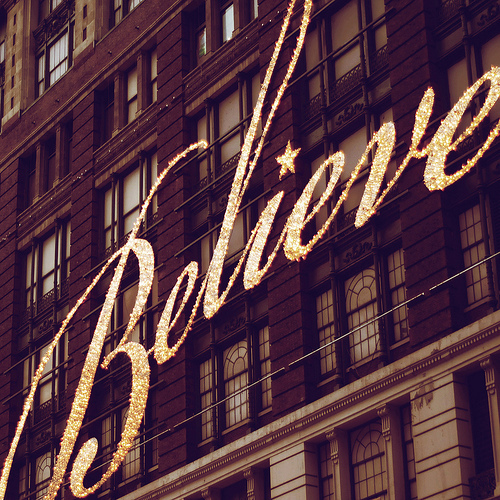 believe, lights, marj world, new york city, sign