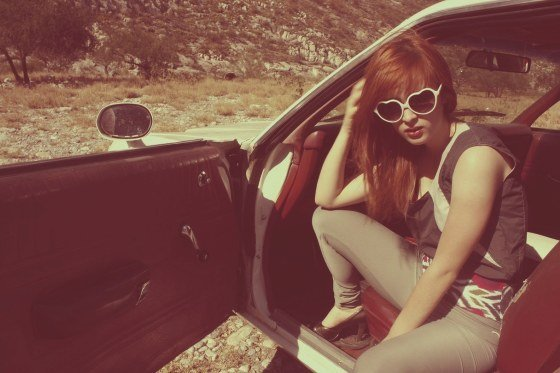 blacksheep collective, car, diamondshot, dimyslef, fashion, girl, glasses, grethel, hearth-shaped glasses, jellyglasses, millcolour, model, photography, woman