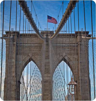 blue, brooklyn bridge, new york, sky, usa