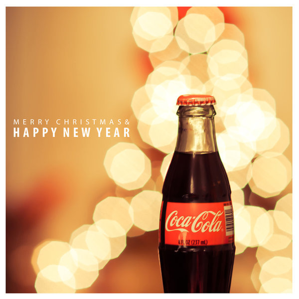bottle, christmas, coca-cola, cola, light, new year, shine