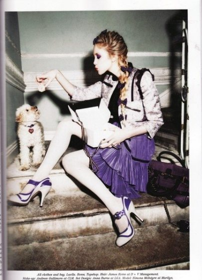 bow, ellen von unwerth, fashion, girl, leith clark, luella bartley, lula magazine, magazine, model, photography, simona, simona mcintyre, tilda, tilda plum