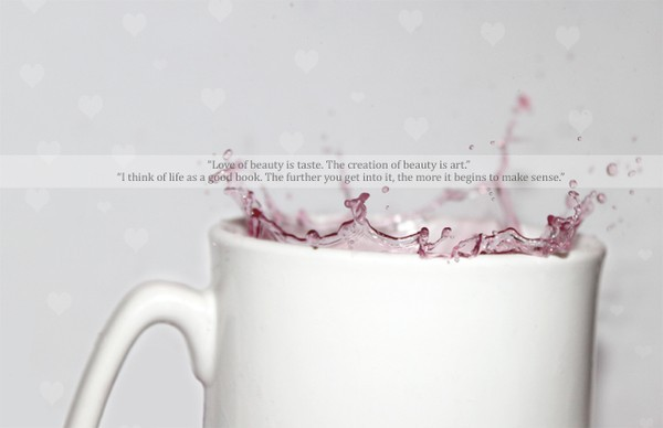 colour, heart, meaning, mug, pink, splash, text, water, white