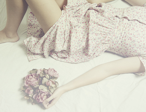 cute, dress, fashion, floral, flowers, girl, girly, pink, pretty, vintage