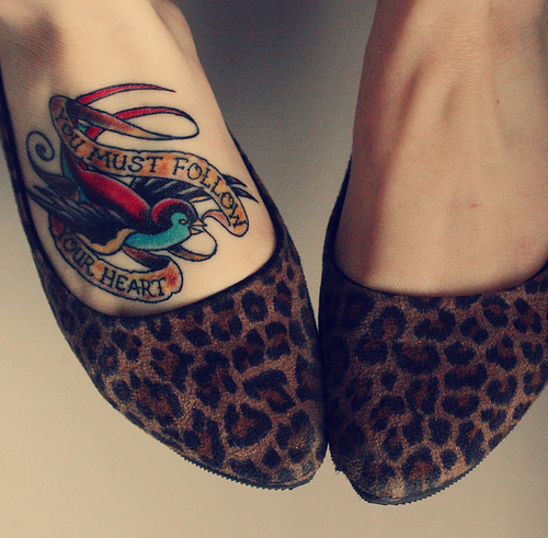cute, follow your heart, tattoo