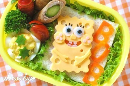 cute, food, kitchen table, spongebob, spongebob squarepants