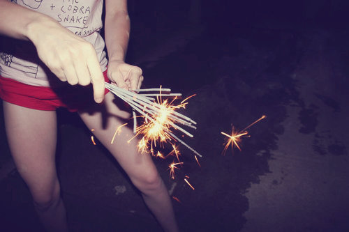 fireworks, night, photography, sparks